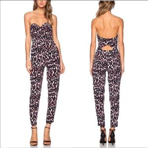 Lovers + Friends Strapless Corset Spotted Jumpsuit